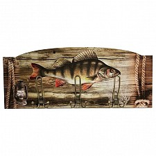 Настенная вешалка Акита (60х25 см) Рыба S26