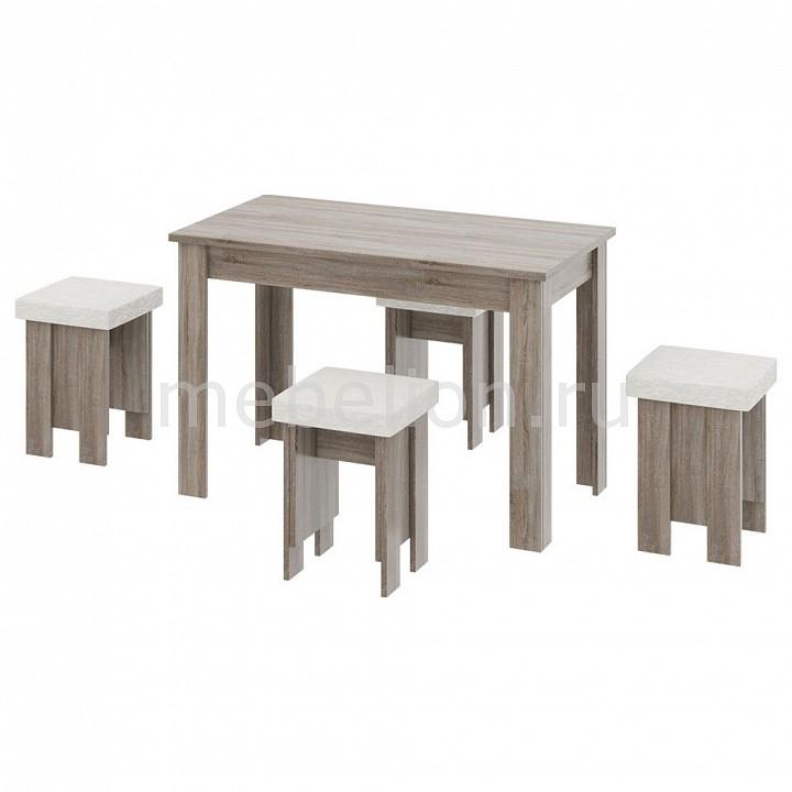 Набор обеденный Мебель Трия Норд табурет трия норд дуб сонома трюфель с мягким сиденьем