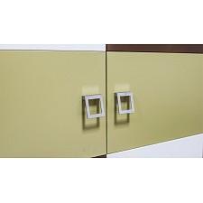Стеллаж комбинированный Тетрис ПМ-154.07 ясень белладжио/молочный/оливковый/шоколадный