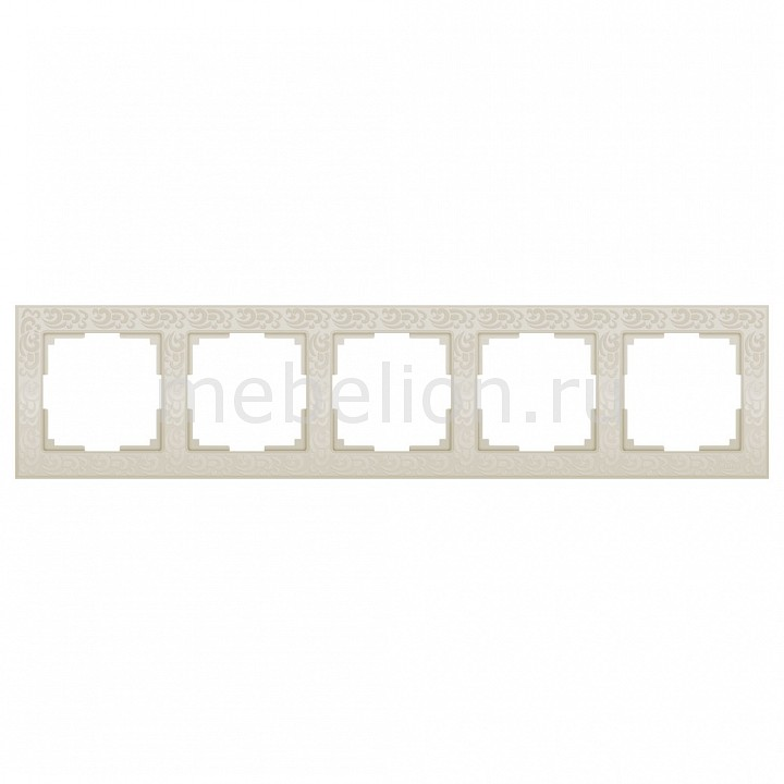 Рамка на 5 постов Werkel Flock WL05-Frame-05-ivory 9ts5 el flock