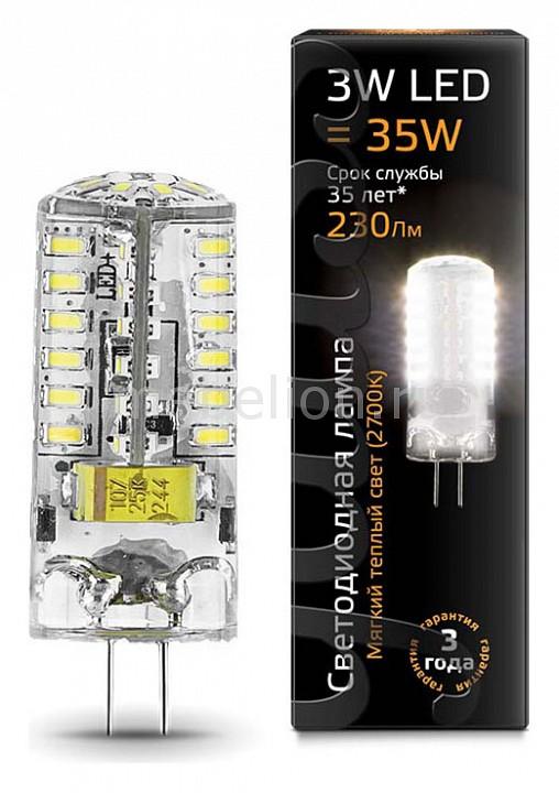 Лампа светодиодная Gauss 2077 G4 12В 3Вт 2700K 207707103