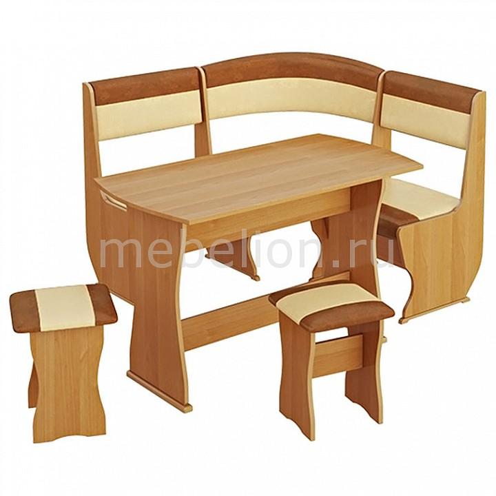 Уголок кухонный Уют-1 К Мини люкс ольха/бук/коричневый