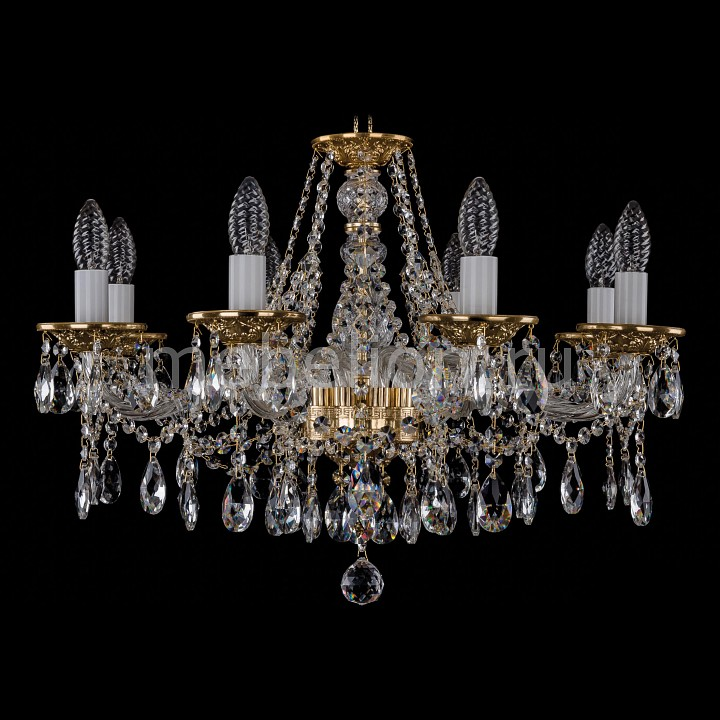 Подвесная люстра Bohemia Ivele Crystal 1613/8/220/G 1613