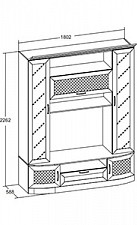Секция-стенка для гостиной Александрия 618.010 Кожа Ленто/Рустика