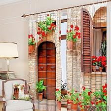 Портьера (150х260 см) 2шт. Итальянский дворик 900306