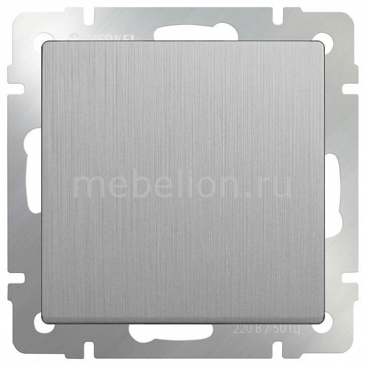Выключатель проходной двухклавишный без рамки Werkel Серебряный рифленый WL09-SW-2G-2W бра colosseo susanna 80311 2w