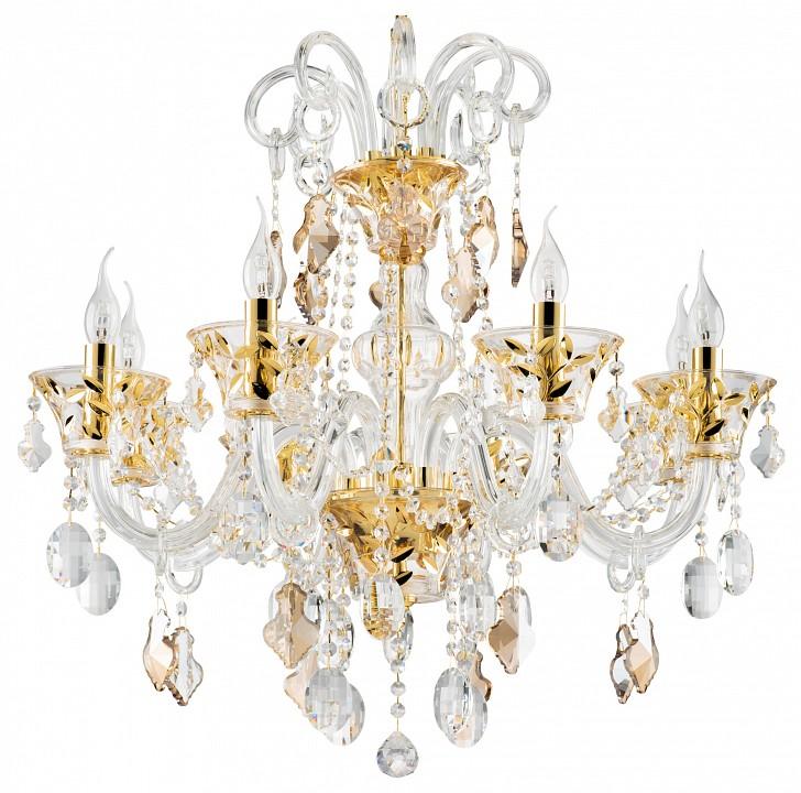 Подвесная люстра Lightstar Tesoro 710082 люстра потолочная коллекция tesoro 710082 золото коньячный прозрачный lightstar лайтстар