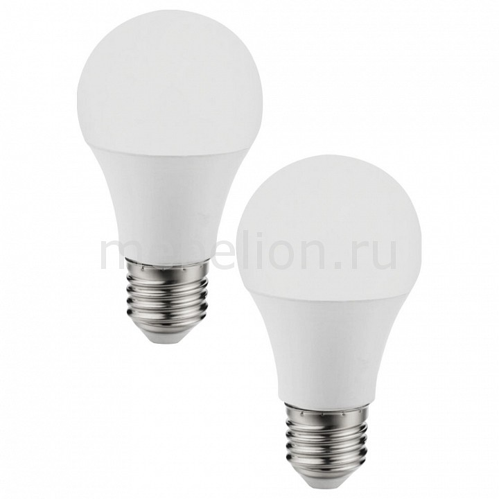 Комплект из 2 ламп светодиодных [поставляется по 10 штук] Eglo Комплект из 2 ламп светодиодных A60 Valuepack E27 60Вт 4000K 11486 [поставляется по 10 штук] комплект из 2 ламп светодиодных eglo led лампы g4 2700k 220 240в 1 2вт 11551