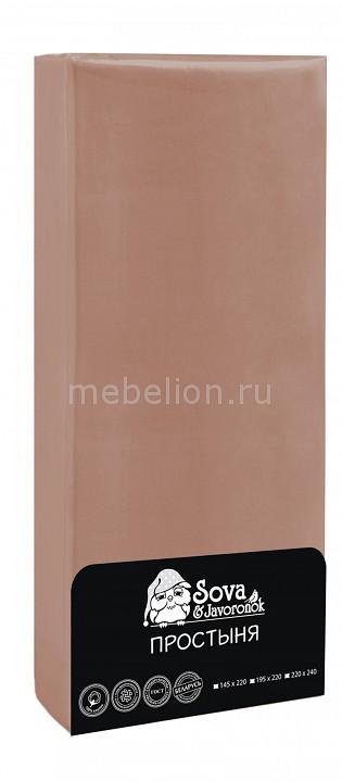 Простыня Сова и Жаворонок (220х240 см) Premium bovi простыня bunny цвет синий 220х240