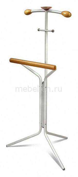 Мебелик Вешалка для костюма Галилео 151 алюминий/средне-коричневый