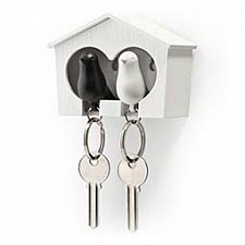 Ключница Umbra (9.5х7.1 см) Qualy QL10124-WH-WH-BK