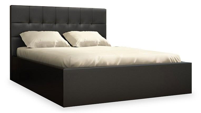 Столлайн Кровать двуспальная Находка Real black 01 с матрасом двуспальная кровать с матрасом столлайн кровать бриз box spring с матрасом независимый пружинный блок montana 273 рогожка