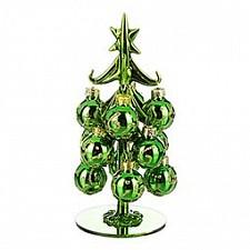 Ель новогодняя с елочными шарами (16 см) ART 594-092