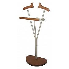 Вешалка для костюма Мебелик Декарт Д-8М металлик/средне-коричневый