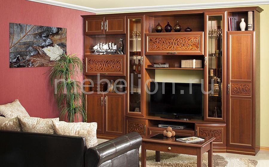 Секция-стенка для гостиной Александрия 618.010 орех