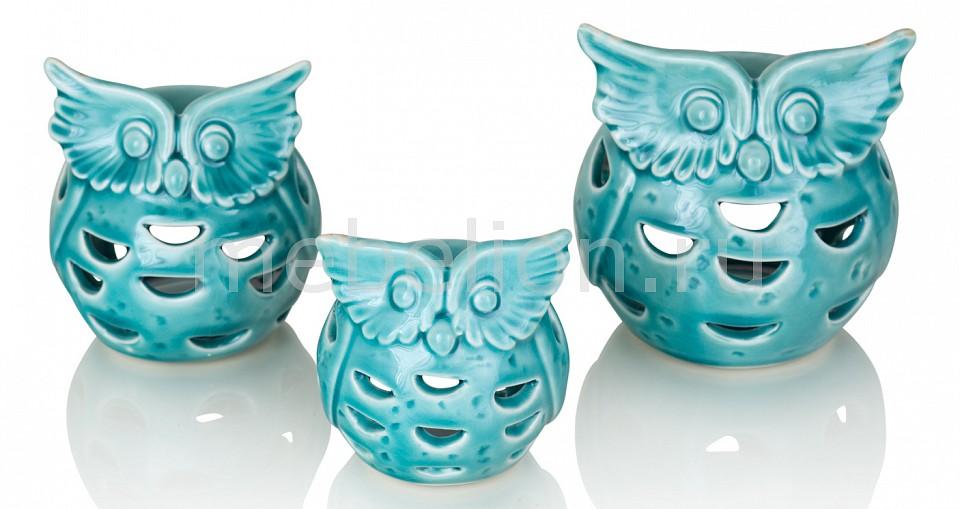 Набор из 3 подсвечников декоративных Aquamarine 402349