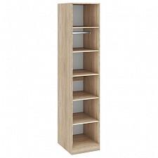Шкаф для белья Ларго СМ-181.07.002 дуб сонома/белый глянец