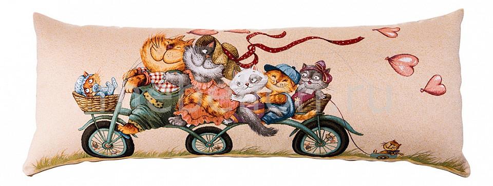 цена Подушка декоративная АРТИ-М (90x35 см) Велопрогулка кошки 850-901-10 онлайн в 2017 году