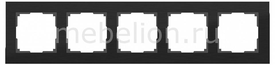 Купить Рамка на 5 постов a039120, Werkel, Швеция, черный, металл