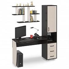 Стол компьютерный Мебель Трия Гимназист (М) венге цаво/дуб молочный