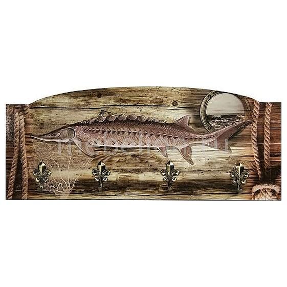 Настенная вешалка (60х25 см) Рыба S28