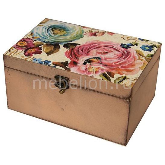 Шкатулка декоративная (26х18х11.5 см) Цветы 1725-13
