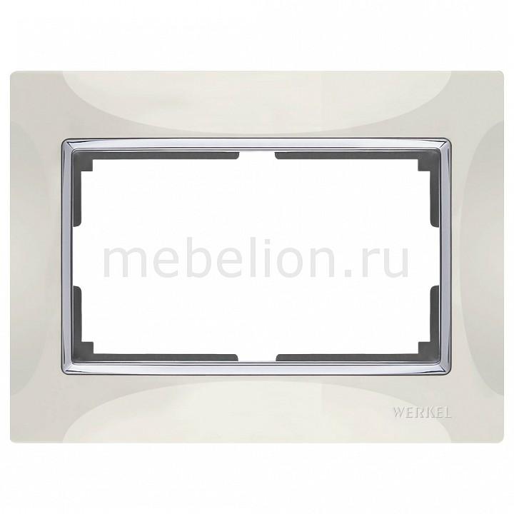 Рамка для двойной розетки Werkel Snabb  WL03-Frame-01-DBL-ivory  цена и фото