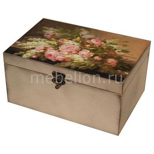Шкатулка декоративная (26х18х11.5 см) Розы 1725-1