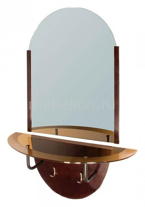 Зеркало настенное Галилео 159 темно-коричневый mebelion.ru 5770.000
