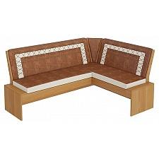Диван Кантри Т1 ольха/коричневый