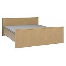 Кровать двуспальная Юлианна СБ-044 венге светлый