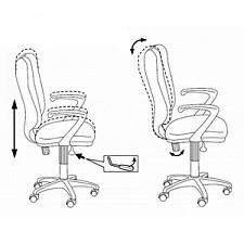 Кресло компьютерное H-540AXSN оранжевое