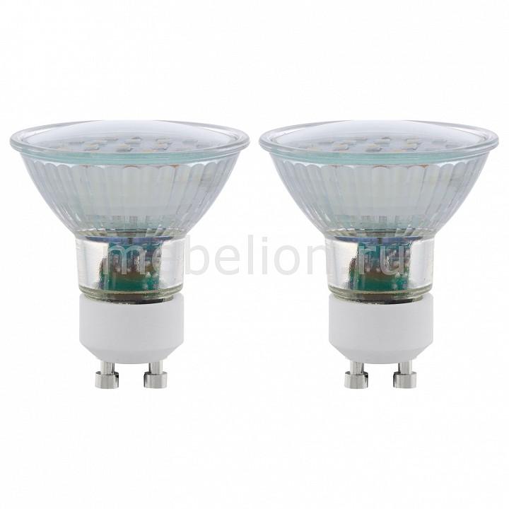 Комплект из 2 ламп светодиодных [поставляется по 10 штук] Eglo Комплект из 2 ламп светодиодных SMD GU10 56Вт 3000K 11537 [поставляется по 10 штук] комплект из 2 ламп светодиодных eglo led лампы g4 2700k 220 240в 1 2вт 11551