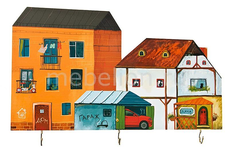 Ключница (35х22 см) Дома 28-307  декор старой тумбочки