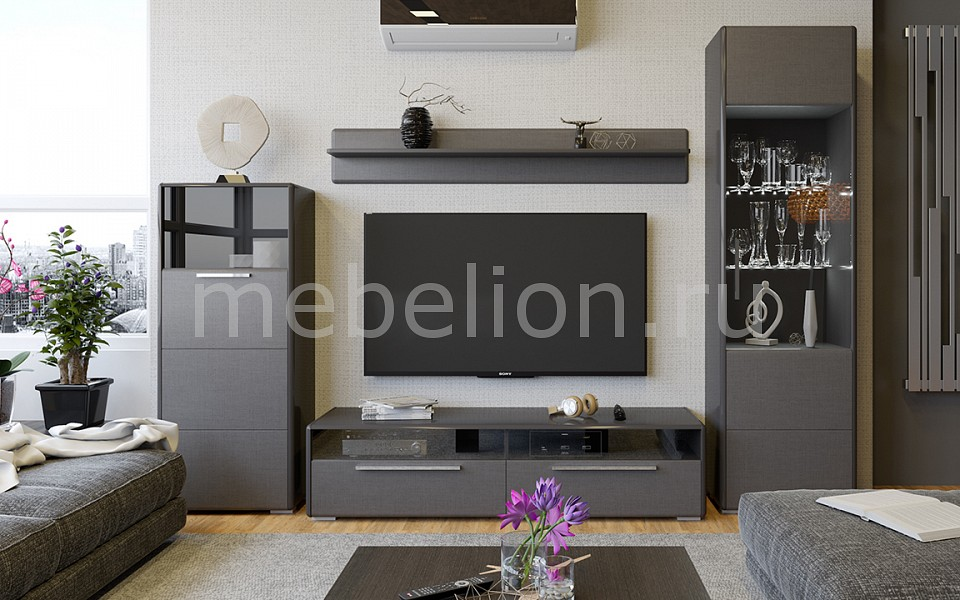 Стенка модульная Мебель Трия Стенка-горка модульная Наоми ГН-208.104 модульная стенка ритм 1