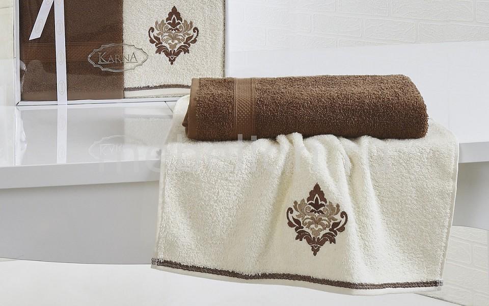 где купить  Набор полотенец для ванной Karna Набор из 2 полотенец для ванной DARMONI  по лучшей цене