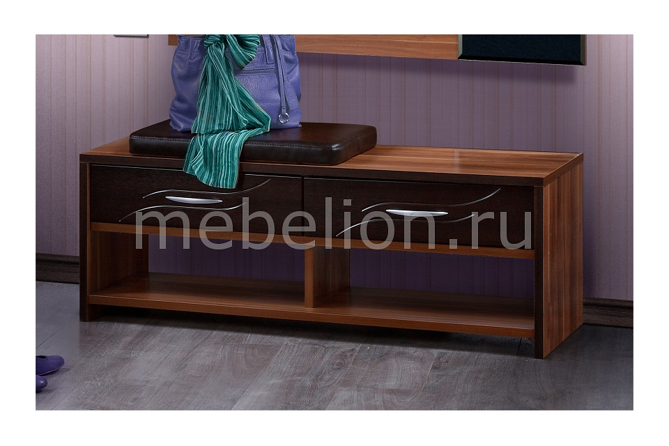 Обувница Глория 2-24.10 слива/венге mebelion.ru 4263.000