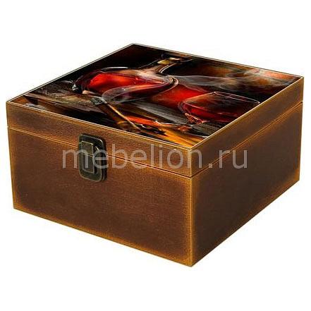 Шкатулка декоративная (24х24х13 см) Вино 1012-5