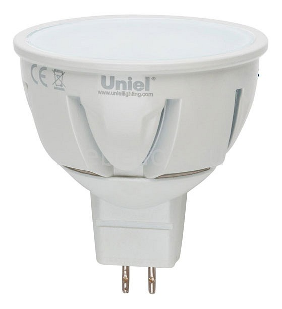 Лампа светодиодная GU5.3 175-265В 5Вт 3000K LED-JCDR-5W/WW/GU5.3/FR ALP01WH, Uniel, Китай  - Купить
