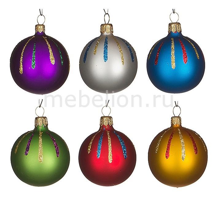 Набор из 6 елочных шаров (5 см) Искорка 860-508