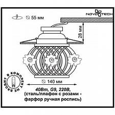 Встраиваемый светильник Novotech 370209 Farfor