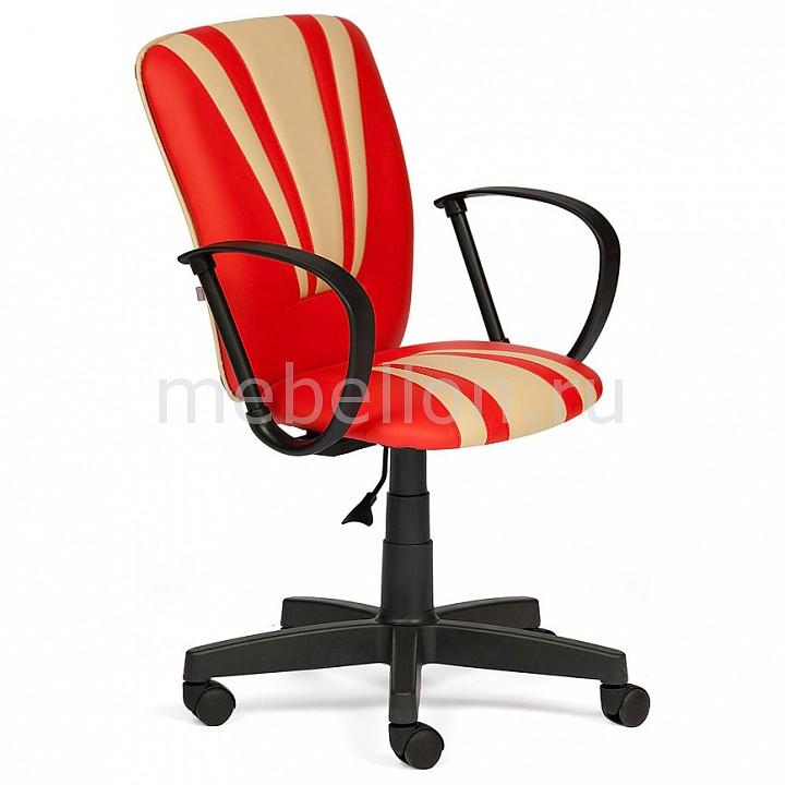 Кресло компьютерное Tetchair Spectrum красный/бежевый