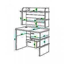 Стол компьютерный Домино нельсон СД-15