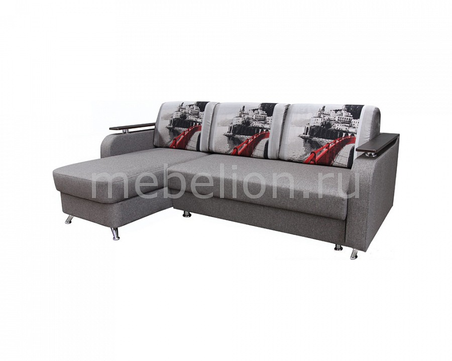 Диван угловой Калипсо Scotch grey/Italian collection como red mebelion.ru 25740.000