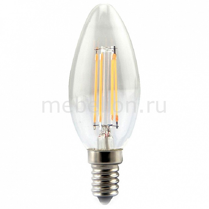 Лампа светодиодная MW-Light E14 4Вт 220В Filament LBMW14C03 led light bulb filament vintage edison e14 2 w 4 w c35 ac220v glass transparent shell cob led candle lamp 360 degree light bulb