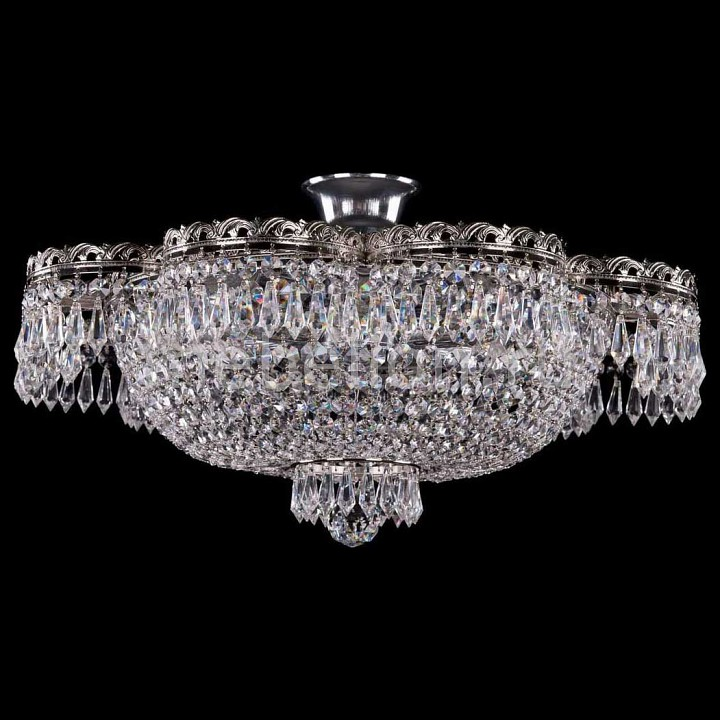 Люстра на штанге Bohemia Ivele Crystal 1930/55Z/Ni цена 2017