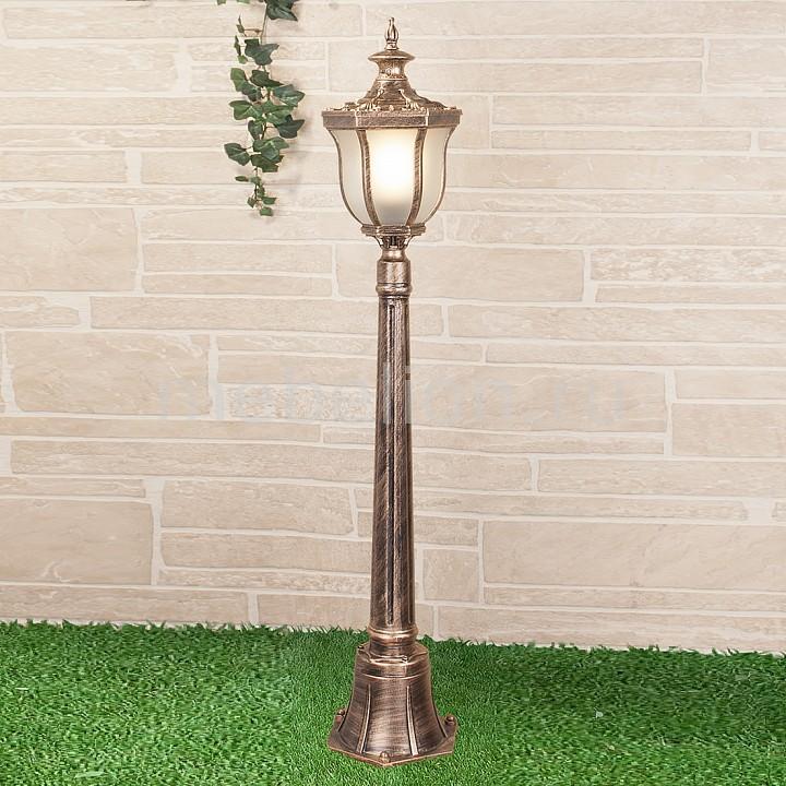 Наземный высокий светильник Elektrostandard Taurus F черное золото (арт. GLXT-1458F) садовый светильник elektrostandard taurus f 3 малахит арт glxt 1458f 3
