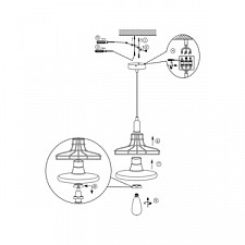 Подвесной светильник Globo 15147 Donna