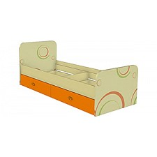 Кровать детская Фруттис 503.020 желтый/лайм/манго