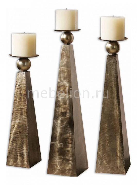 все цены на Подсвечник декоративный Uttermost Набор из 3 подсвечников декоративных Cesano 19652 онлайн